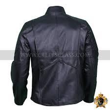 smallville black faux leather jacket