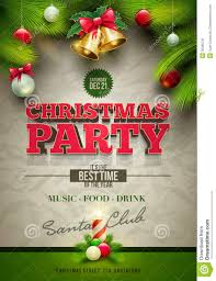 Christmas Party Tickets Templates Christmas Party Poster Stock Vector Illustration Of Greeting 24 23