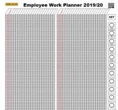 Details About Staff Employee 365 Day Holiday Work Planner Chart A1 April March 2019 2020