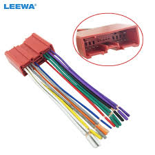 leewa car radio cd player wiring harness audio stereo wire adapter Aftermarket Radio Harness leewa car radio cd player wiring harness audio stereo wire adapter for mazda install aftermarket cd