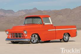1955 Chevy Cameo - Orange Crush - Classic Chevy Trucks - Truckin ...