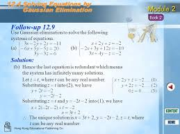 follow up 12 9 12 4 solving equations by gaussian elimination