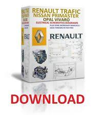 wiring diagrams 2001 to 2014 renault trafic nissan primaster repair manuals wiring diagrams