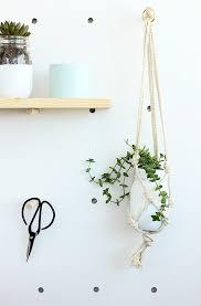 diy easy macrame plant hanger