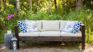 diy outdoor furniture couch. Beautiful Diy DIY Outdoor Furniture  How To Make A Sofa From 2x4s In Diy Couch M