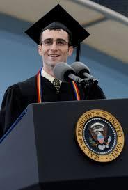 University of Michigan student speaker Alex Marston briefly steals ...