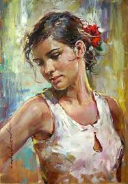 painting of woman top 25 best figurative art ideas on woman face by photographer