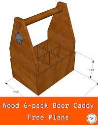 wood beer caddy plans 6 pack beer tote