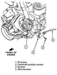where is the cam sensor location on a 1994 ford 2 3l graphic
