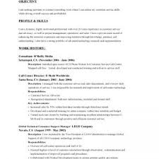 examples of job objectives for resume resume examples objective sentence for resume example statement profile product support manager resume