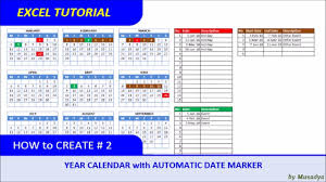 Interactive Calendar Template How To Create Excel Calendar For Specific Year With Automatic Date Marker