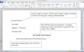 Mla Format English Ii 10th Grade Rm313