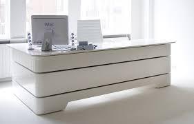 large white office desk. White Gloss Desk Executive RKNL20 Large Office .
