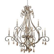 distressed chandelier