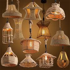 diy pendant lighting. Retro Loft Vintage Hemp Rope Pendant Light DIY Lamp E27 Industrial Edison Bulb Hanging Diy Lighting L