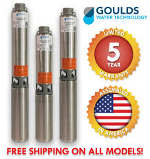 Goulds Well Pump Sizing Chart Goulds Submersible 4 Well Pumps Gs Stainless Steel Series