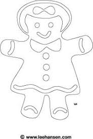 Gingerbread Girl Coloring Page Printable