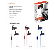 jbl reflect mini bluetooth in ear sport headphones. featuring a one button remote and mic, adjustable y-split cables the angled connector, jbl reflect mini is perfect training partner. jbl bluetooth in ear sport headphones