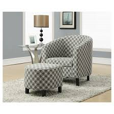 Accent Chair And Ottoman Gray Circles EveryRoom Tar