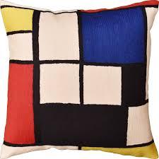 wool throw pillows.  Pillows Tableau I By Piet Mondrian Decorative Pillow Cover Modern Abstract Wool  18x18  Kashmir Pillows To Wool Throw