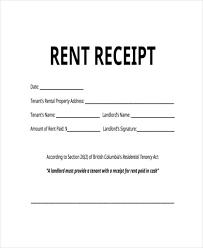 Free 41 Free Receipt Forms Pdf