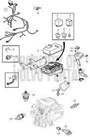 volvo penta exploded view schematic engine harness and sensors exploded view schematic