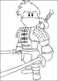 The whole action of the game. Free Printable Roblox Coloring Pages
