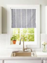 striped kitchen curtains window treatments design 14 diy kitchen window treatments