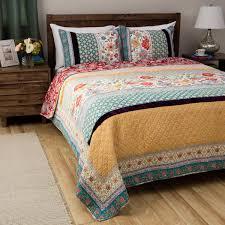 quilts and comforter sets beautiful 7pc modern blue teal aqua tan grey scroll pleat 16