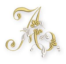 Free Download Letter Golden Flower Alphabet Letter A Bernina Blog