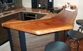 natural hickory butcher block and wide plank