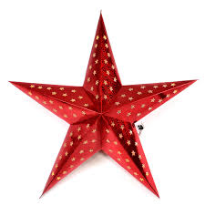 Papierstern 3d 10 Led Rot Weihnachtsstern Faltstern Batterie