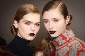 versace glittering red lips