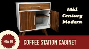 coffee station furniture. How To Make A Mid Century Modern Coffee Cabinet Station Furniture