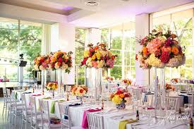 bright flower arrangements filled texas discovery gardens for jordan and camille s wedding dallas wedding planners weddings by stardust