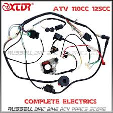 aliexpress com buy atv quad wiring harness 50cc 70cc 110cc 125cc atv quad wiring harness 50cc 70cc 110cc 125cc ignition coil cdi stator assembly wire