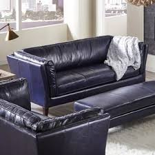 navy blue leather couch. Unique Couch Betton Leather Sofa For Navy Blue Couch A
