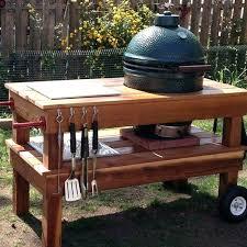 diy grill table build outdoor