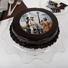 Yummy Chocolate Photo Cake For Dad Online Cake Delivery Birthday