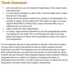 Thesis Statement Essay Example Examples Of A Thesis Statement In An Essay Apa Format