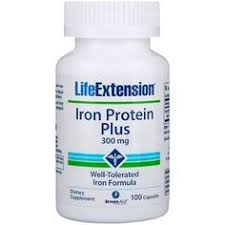 Life Extension, Iron Protein Plus, 300 mg, 100 Capsules | Товары ...