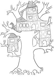 Small Picture Beautiful Treehouse Coloring Pages Gallery Printable Coloring