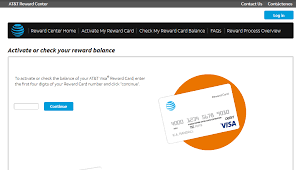 redeem and activate at t reward card