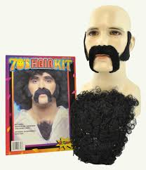 look like you stepped right out of a disco with this 70 s hair costume kit