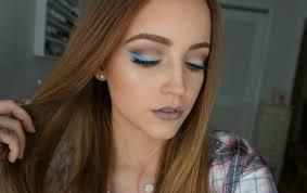 blue gray cool tones makeup look kat von d shade light palettes you