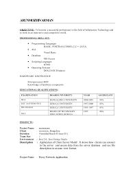 Attractive Bcom Fresher Resume Sample Doc Adornment Resume Ideas