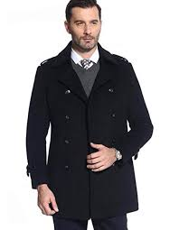 <b>Men's</b> Woolen Coat <b>British Style Winter</b> Warm Business Coat (Color ...