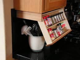 Space Saving Cabinet Traditional Kitchen Space Saving Under Cabinet Spice Rack