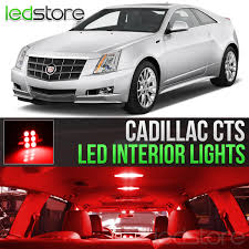 Cadillac Cts Lights Details About 2008 2013 Cadillac Cts Red Interior Led Lights Kit Package