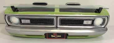 1970 dodge dart demon front end grill wall shelf headlights lime green